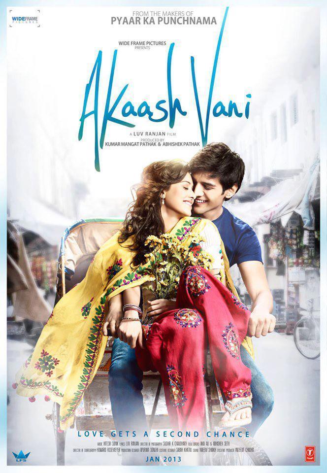 Kartik And Nushrat On Akaash Vani Movie Poster