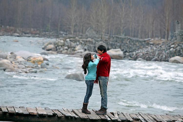 Kartik And Nushrat Photo In A Nice Location From Movie Akaash Vani