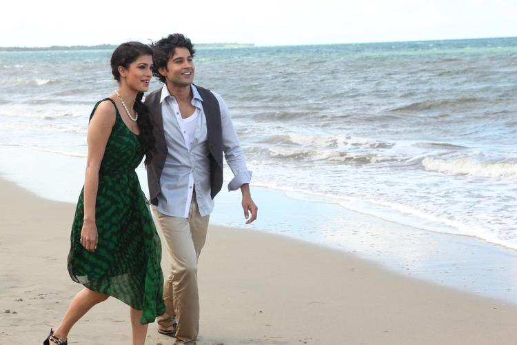 Rajeev And Tena Photo On Beach From Movie Table No. 21