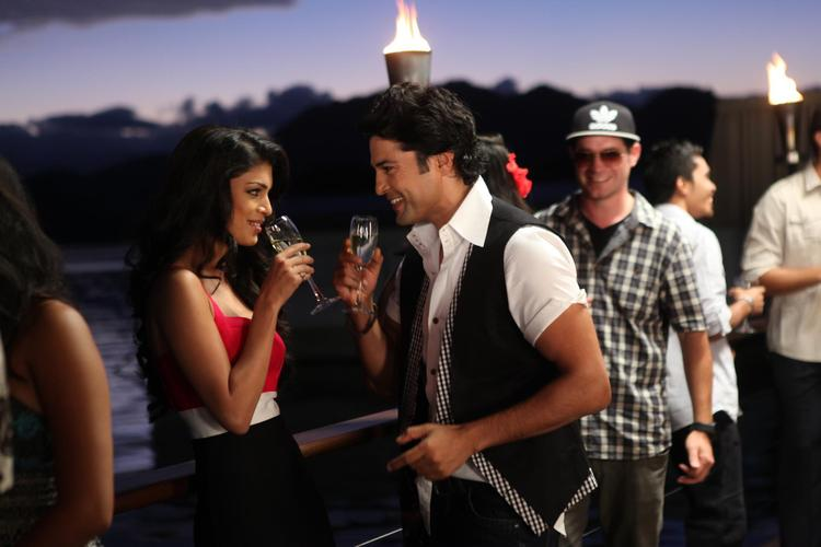Tena And Rajeev Drink Photo Still From Movie Table No. 21