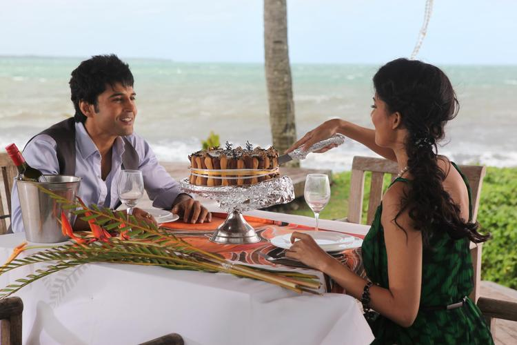 Tena And Rajeev Photo In Dinner Table From Movie Table No. 21