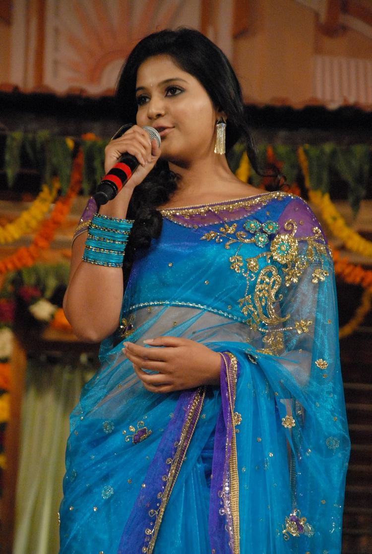 Anjali Speaks Out At SVSC Audio Release Function