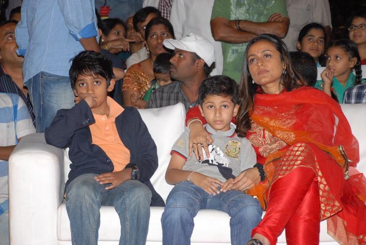 Arjun,Namrata With Son Gautam Attend The SVSC Audio Release Function