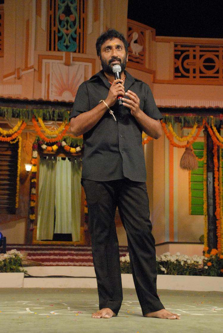 A Celeb Clicked At SVSC Audio Release Function