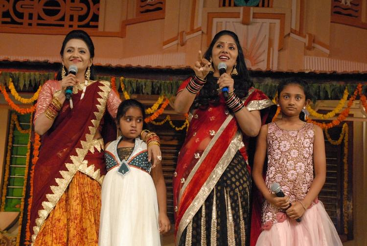Celebs With Kids At SVSC Audio Release Function
