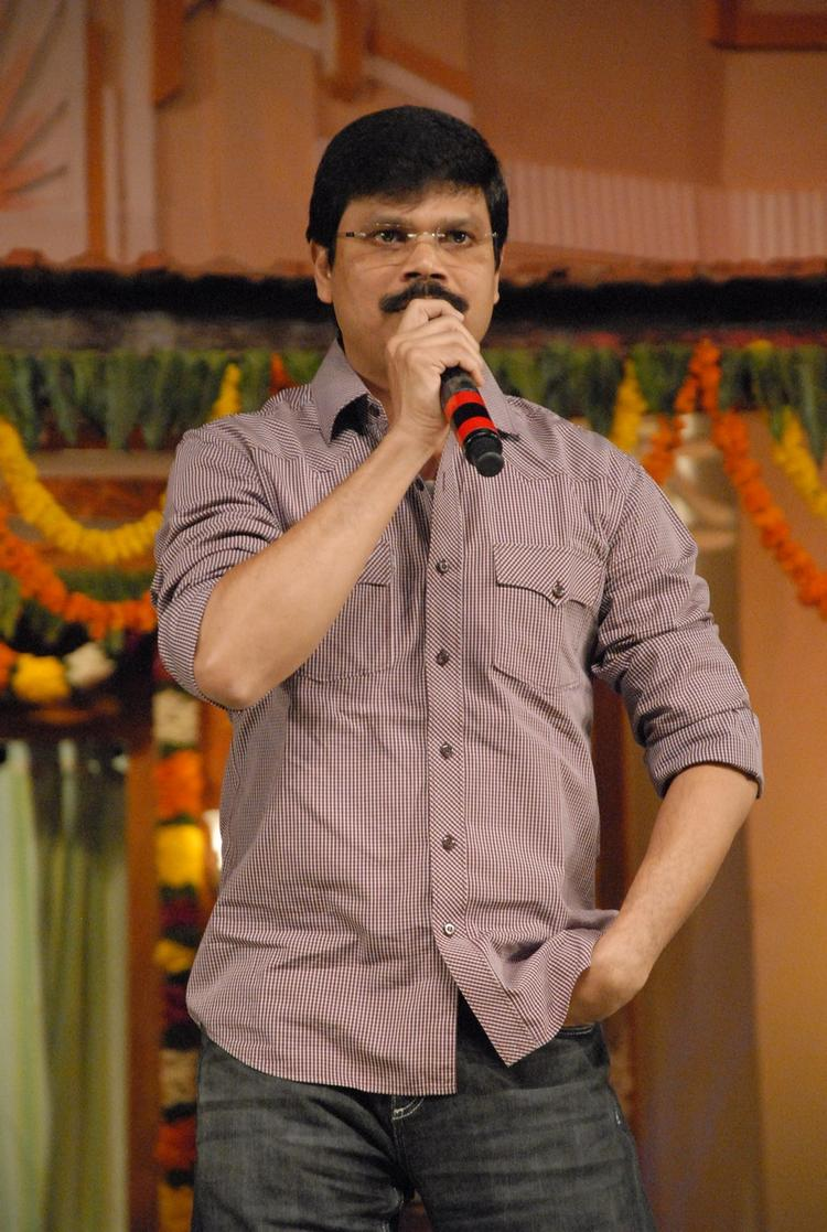 A Guest On The Stage At SVSC Audio Release Function