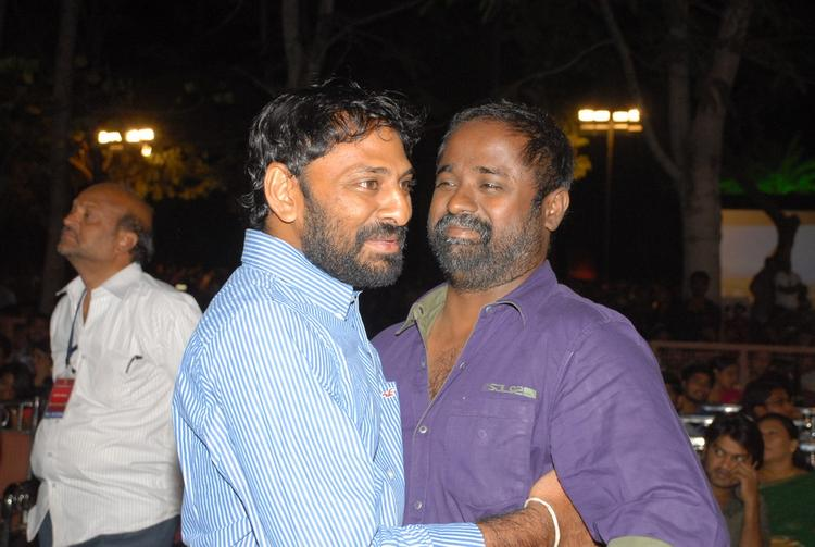 Stars Hug To Each Other At SVSC Audio Release Function