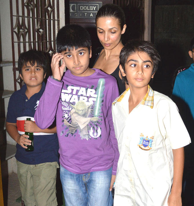Arhaan With Mom Malaika Attend The Special Screening Of Dabangg 2