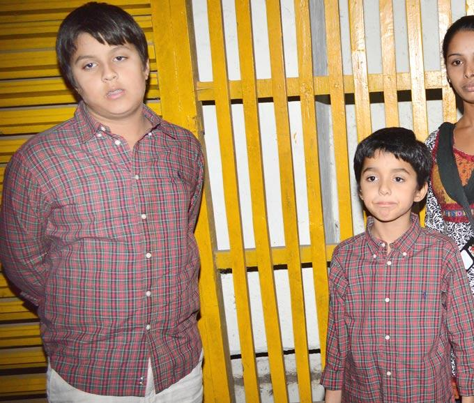 Aryaman Son Of Bobby Deol And Hridhaan Son Of Hrithik Roshan Spotted At Dabangg 2 Special Screening