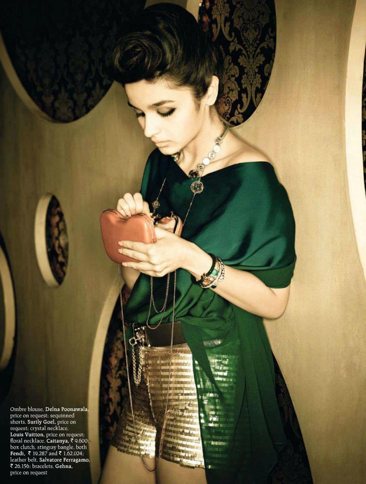 Alia Bhatt Looked Hot In Deep Green Dress For Grazia Magazine December Issue