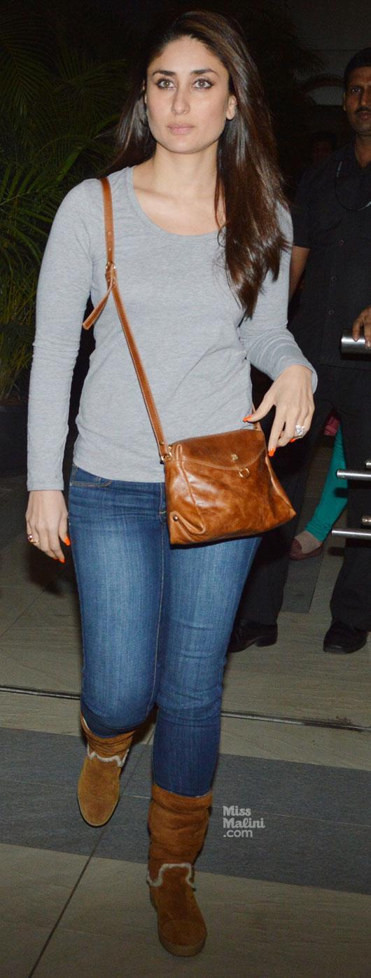 Kareena Kapoor At Mumbai Airport