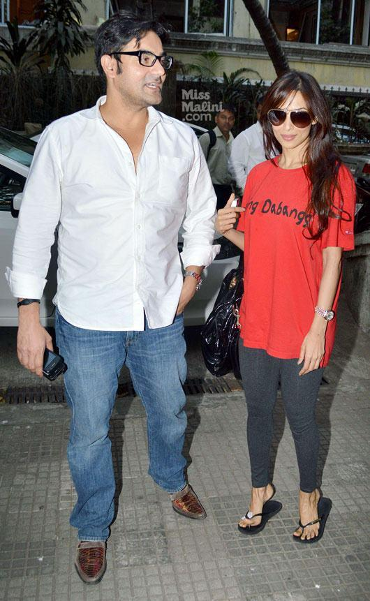 Arbaaz With Wife Malaika During The Special Screening Event Of Dabangg 2