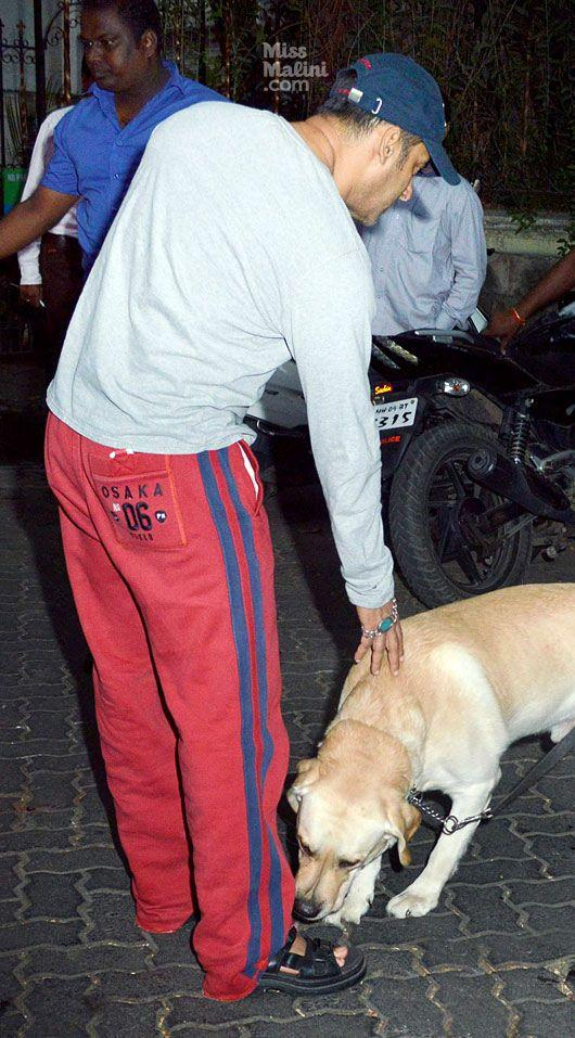 Salman's Dog Cuddles Up To Him At Dabangg 2 Screening Event