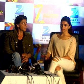 Shahrukh And Deepika Attend The Zee Cine Awards Press Conference