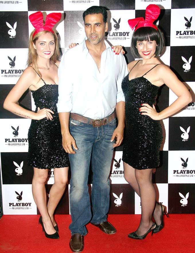 Akshay Kumar With Playmate Snapped At The Playboy Bash
