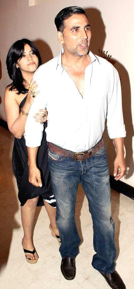 Ekta With Akshay Spotted At The Playboy Bash
