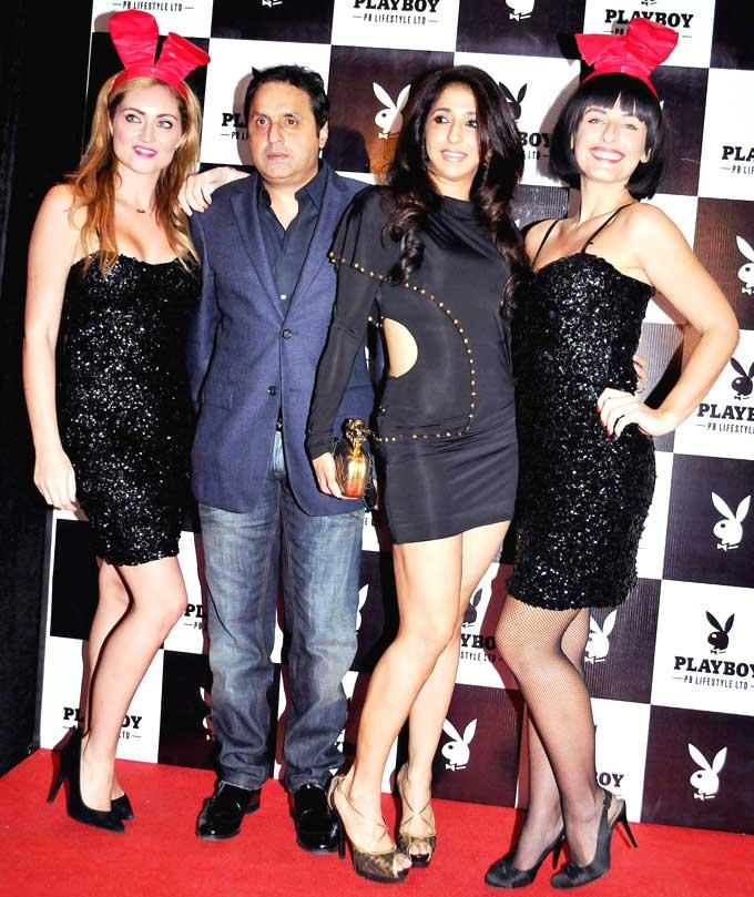 Sunil And Krishika Lulla With Playmates Snapped At The Playboy Bash