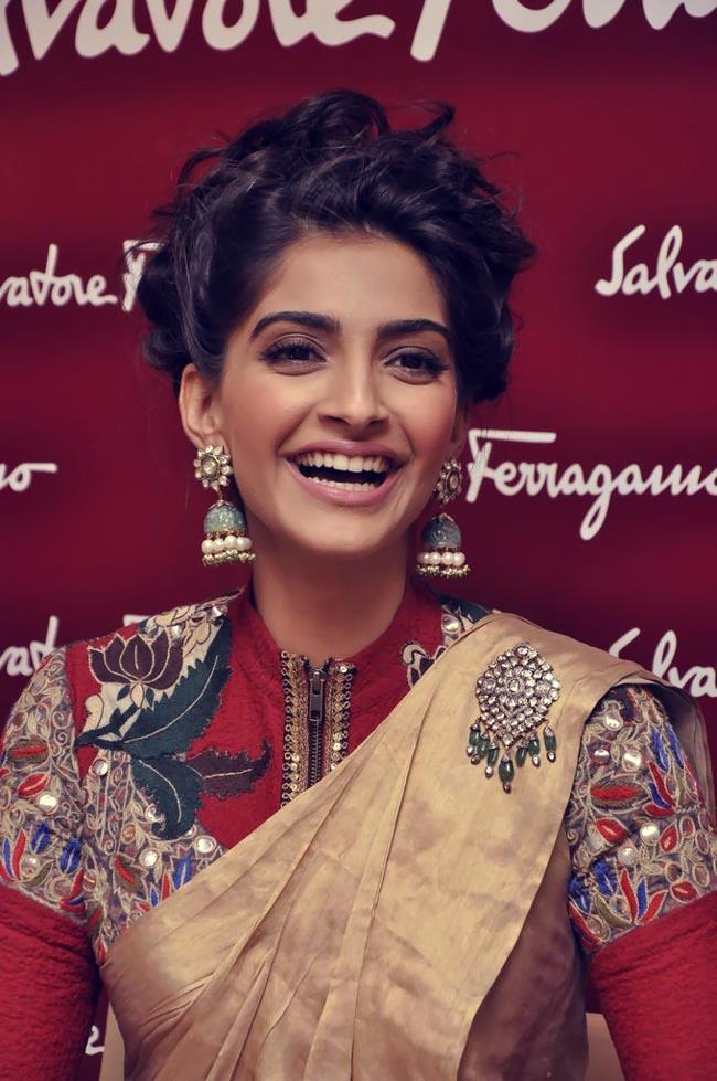 Sonam Kapoor Flashes Smiling At Salvatore Ferragamo Boutique