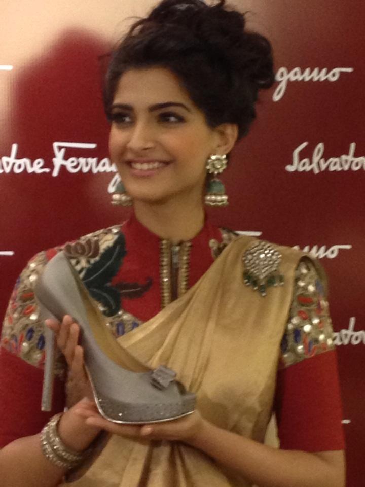 Sonam Kapoor Unveils Her Customised Ferragamo Shoes At Salvatore Ferragamo Boutique