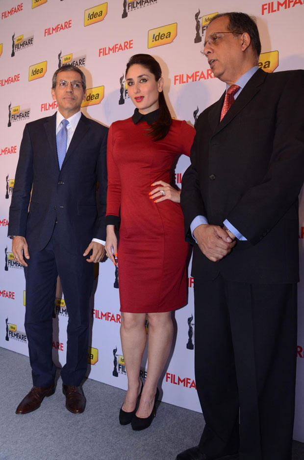 Kareena With Other Guests Pose For Camera At The 58th Idea Filmfare Awards Press Meet