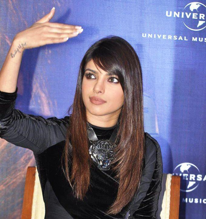 Priyanka Attend The Promotion Of In My City Album At Blenders Pride Event