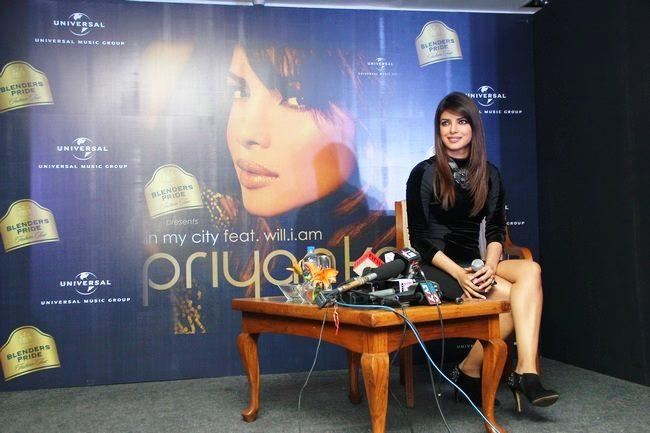 Priyanka Posed At Blenders Pride Event For Promoting Her Album In My City