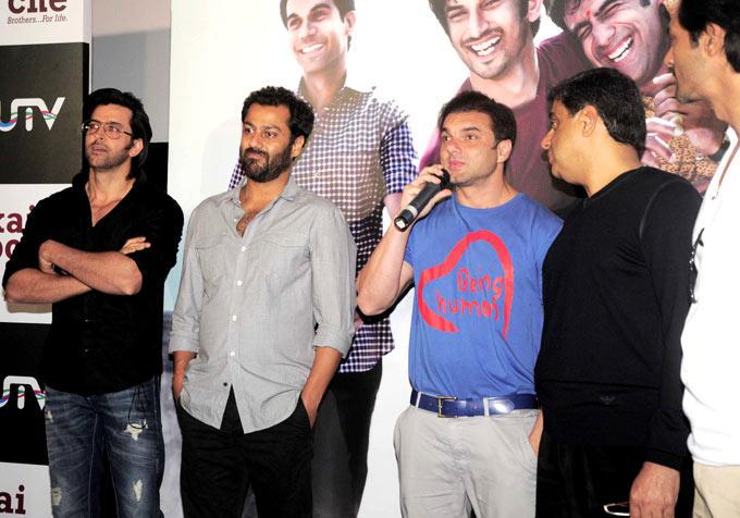 Sohail Speaks As Hrithik,Abhishek,Arjun And Ronnie Listen At The Kai Po Che Trailer Launch