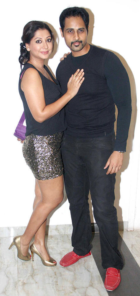 Guests Pose For Camera At Karishma Tannas Birthday Bash
