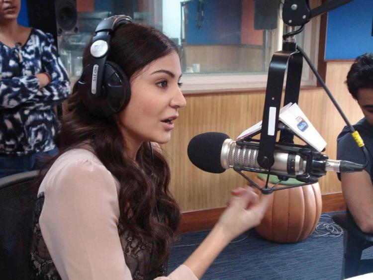Anushka As Jockey At Radio City 91.1 FM For Promotion Of MKBKM