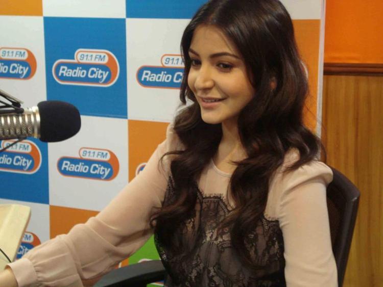 Anushka Sizzling Photo At Radio City 91.1 FM For Promotion Of MKBKM