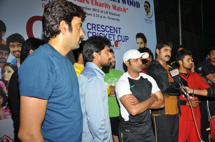 Srikanth,Naveen And Tarun Photo Clicked At CCL Practice Match Session
