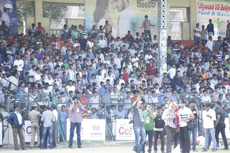 Audience Photo Clicked During The Match Between Mumbai Heroes And Telugu Warriors