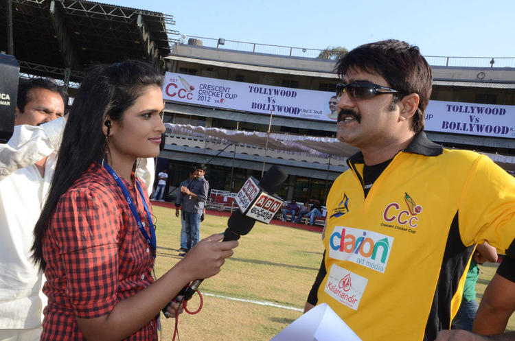 Meka Srikanth Talked To Media At Celebrity Cricket League Match