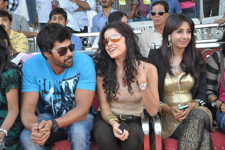Sanjana With Friends On Audience Seat At Celebrity Cricket League