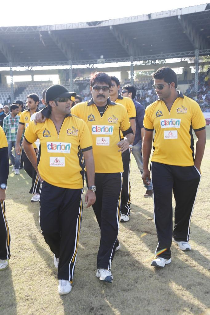 Tarun And Srikanth Entering To Field Photo Clicked During A CCL Match With Mumbai Heroes
