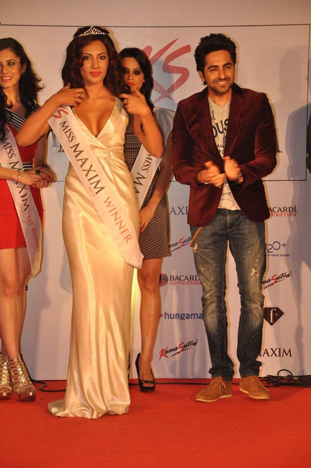 Ayushmann Spotted At Kamasutra Miss Maxim 2012 Grand Finale