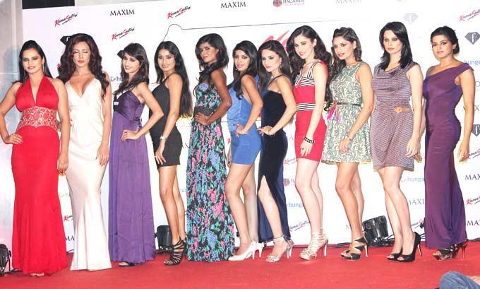 Models Are Clicked At Kamasutra Miss Maxim 2012 Grand Finale