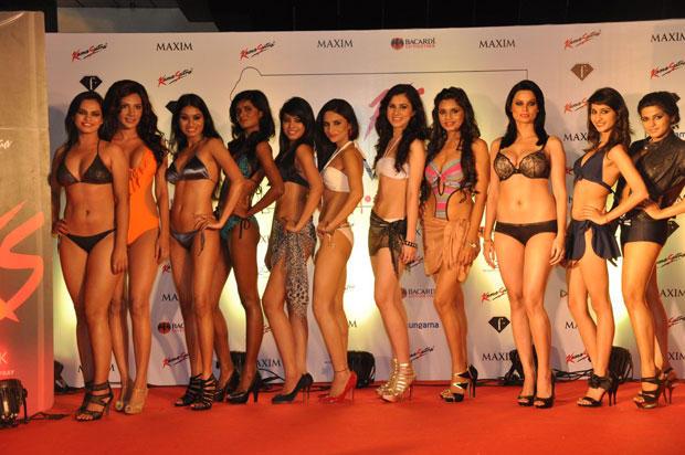 Models Are Posed At Kamasutra Miss Maxim 2012 Grand Finale