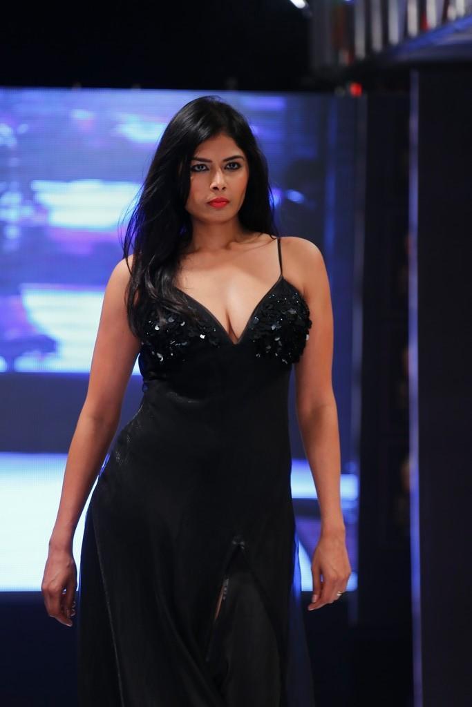 A Hot Model Walks On Ramp At Blenders Pride Hyderabad International Fashion Week