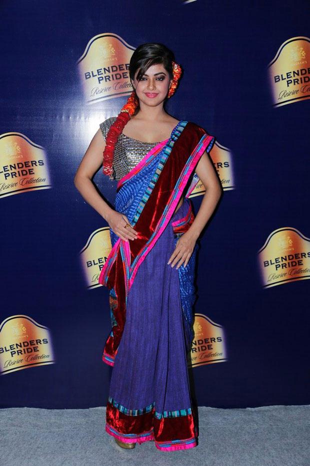 Meera Charming Look Photo In Saree At Blenders Pride Hyderabad International Fashion Week