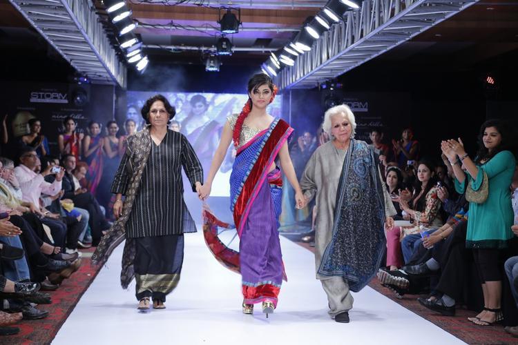 Meera With Guests On Ramp At Blenders Pride Hyderabad International Fashion Week