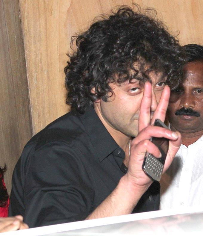 Bobby Deol Photo Clicked At Sunny And Anu Dewans Christmas Bash