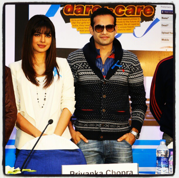 Priyanka And Irfan Attend The Unicef Cheer-O-Meter Launch Event