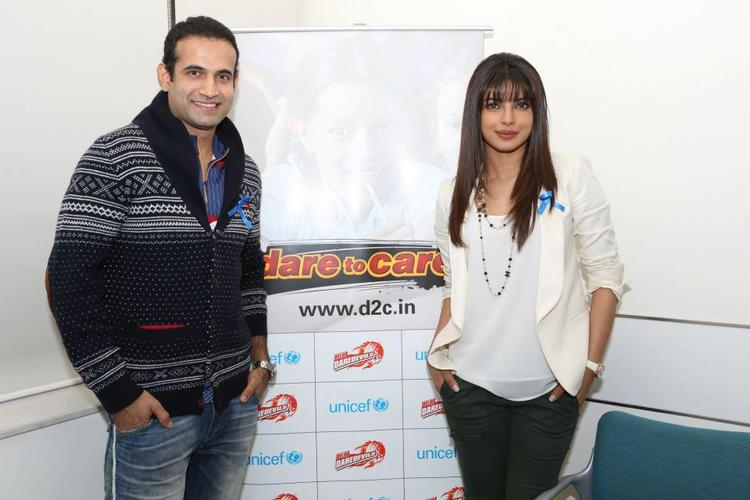 Priyanka And Irfan Clicked At Unicef Cheer-O-Meter Launch Event