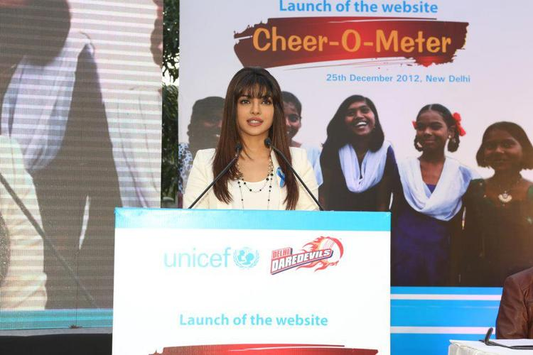 Priyanka Chopra Launches Unicef Cheer-O-Meter