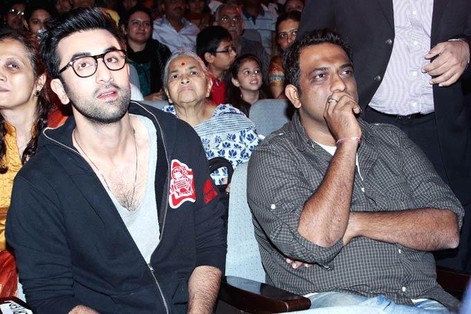 Ranbir Kapoor And Anurag Basu During Visit The Tata Memorial Hospital