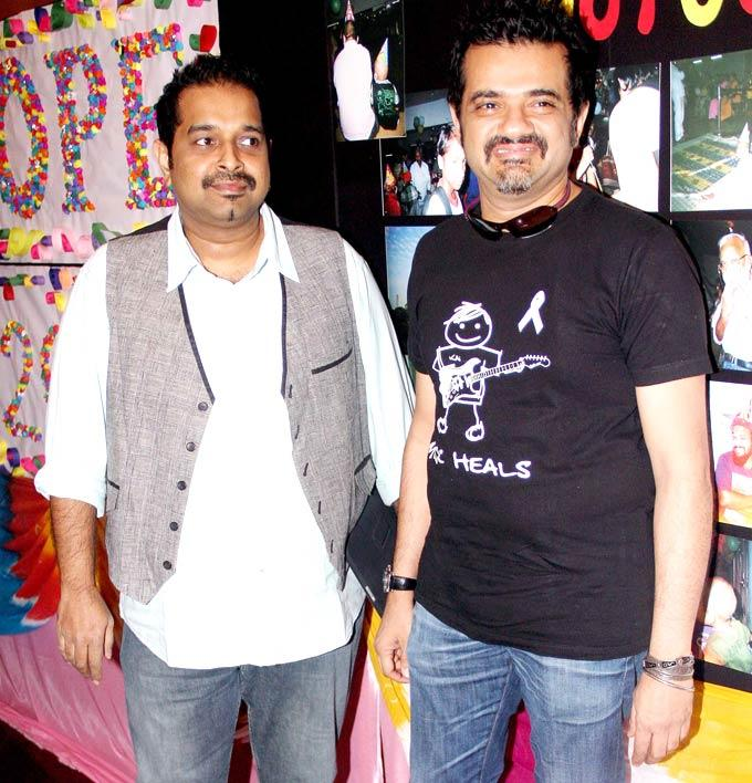 Shankar Mahadevan And Ehsaan Noorani Clicked At Tata Memorial Hospital