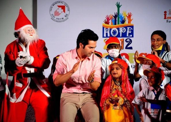 Varun Dhawan Shakes His Legs With Kids At Tata Memorial Hospital
