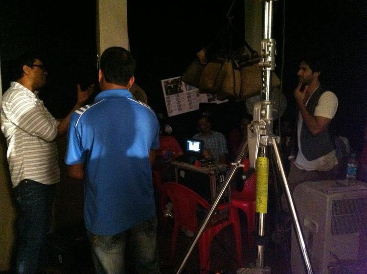 Shahid Kapoor During On The Sets Of New Bru Coffee Ad