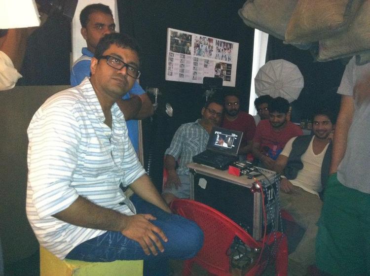 Shahid Kapoor On The Sets Of New Bru Coffee Ad